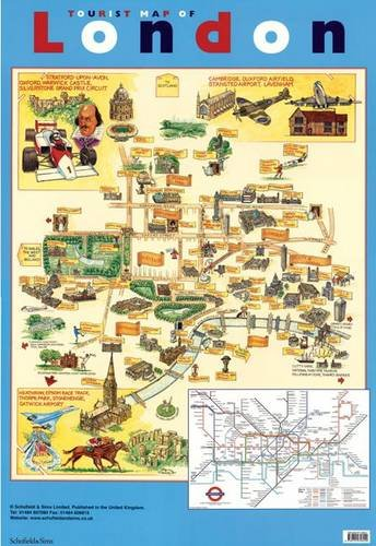 9780721756240: Tourist Map of London (Laminated Poster)