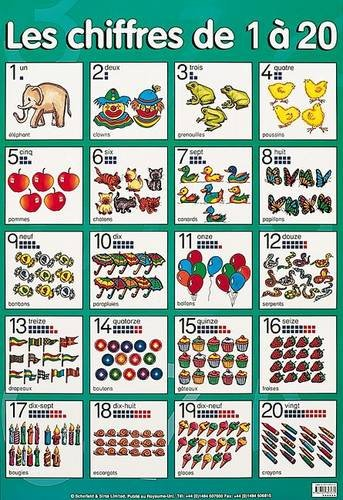 9780721757063: Chiffres De 1 a 20 (numbers 1 to 20) (Posters)