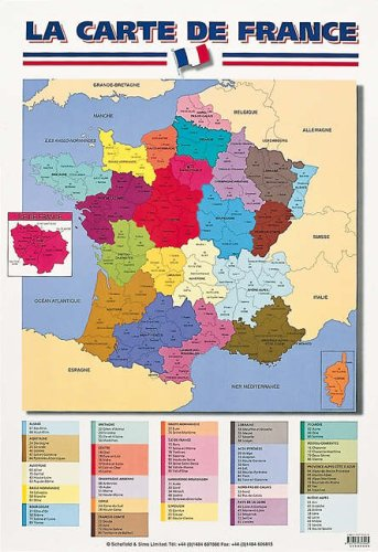 Map Of France In English.9780721757445 Map Of France English And French Edition Abebooks