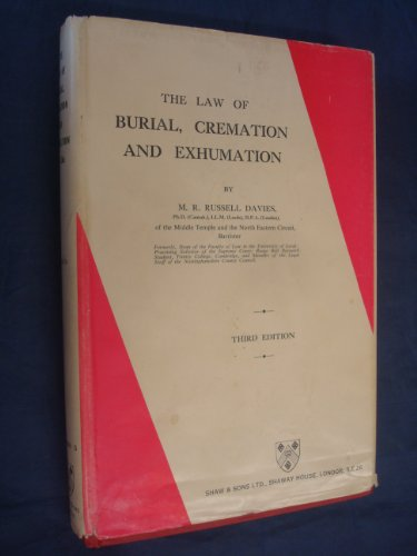 9780721900612: Law of Burial, Cremation and Exhumation