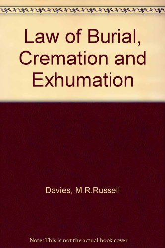 9780721900636: Law of Burial, Cremation and Exhumation