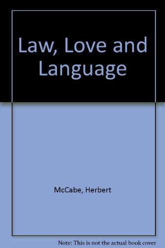 9780722005422: Law, Love and Language