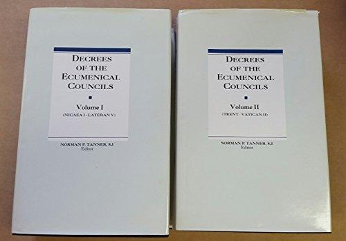 9780722030103: Decrees of the Ecumenical Councils 2 Vol