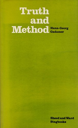9780722092156: Truth and Method (Stagbooks)
