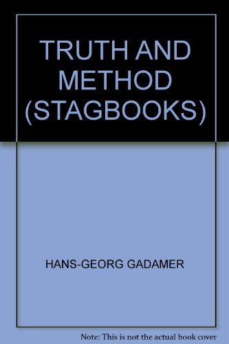 Truth and Method (Stagbooks) (9780722092811) by HANS-GEORG GADAMER