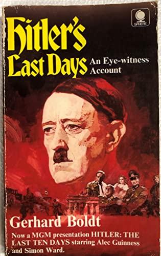 9780722117354: Hitler's Last Days