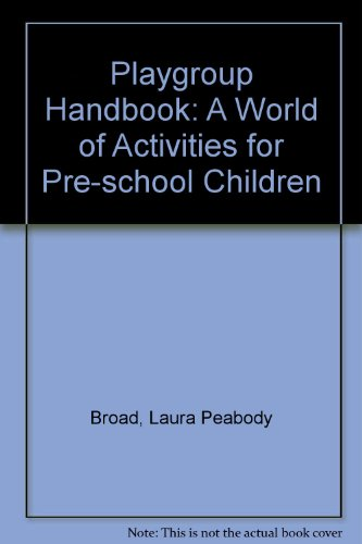 9780722118740: The Playgroup Handbook