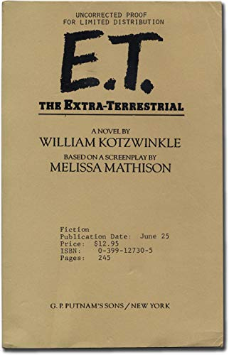 9780722152454: E.T. The Extra-Terrestrial