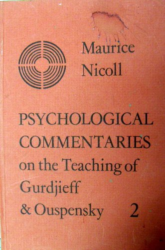 9780722401835: Psychological Commentaries on the Teaching of Gurdjieff and Ouspensky: v. 2