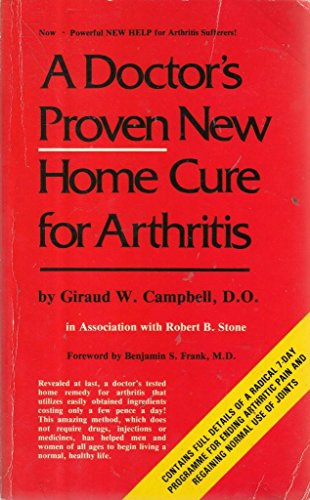 9780722508404: Doctor's Proven New Home Cure for Arthritis