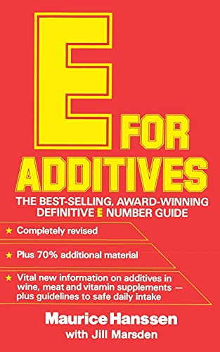 9780722515624: E for Additives