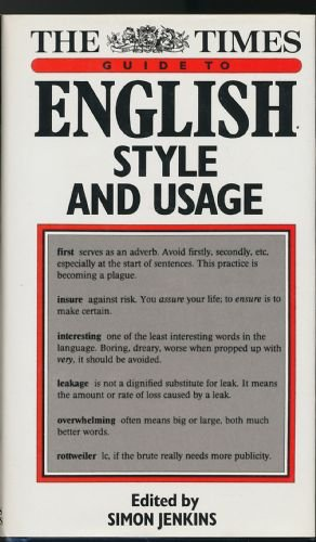 9780723003960: The Times English Style and Usage Guide