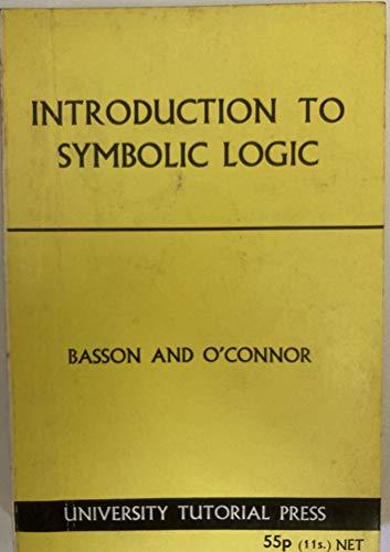 9780723104568: Introduction to Symbolic Logic
