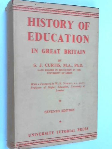 9780723104650: History of Education in Great Britain