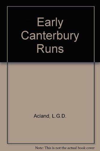 9780723304159: Early Canterbury Runs