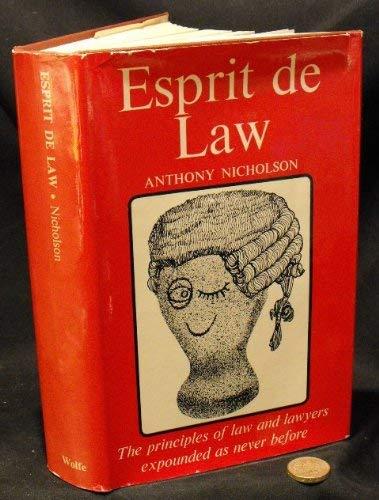 9780723404972: Esprit de law