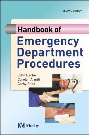 9780723433224: Handbook of Emergency Department Procedures, 2e