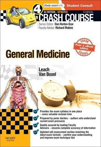 9780723438649: Crash Course General Medicine Updated Print + eBook edition, 4e