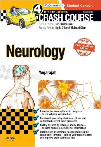 9780723438663: Crash Course Neurology Updated Print + eBook edition, 4e