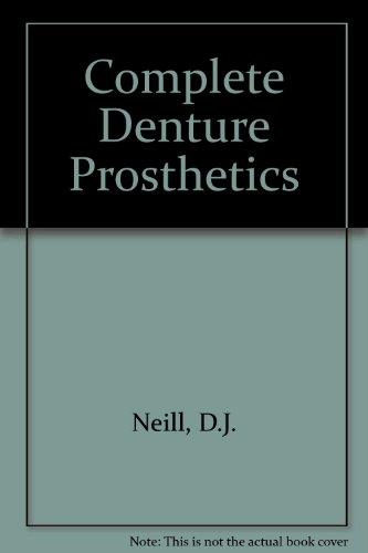 9780723601975: Complete Denture Prosthetics