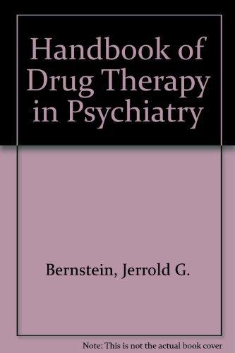 9780723670285: Handbook of Drug Therapy in Psychiatry