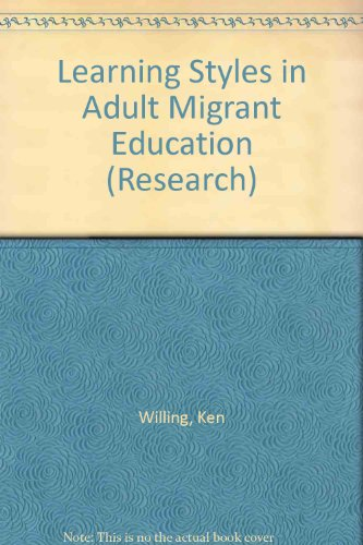 9780724343034: Learning Styles in Adult Migrant Education