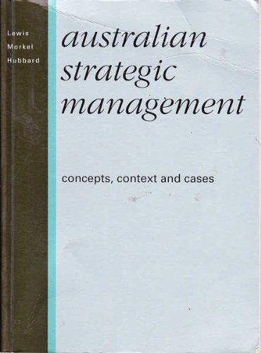 9780724800322: Australian Strategic Management; Concepts, Context and Cases