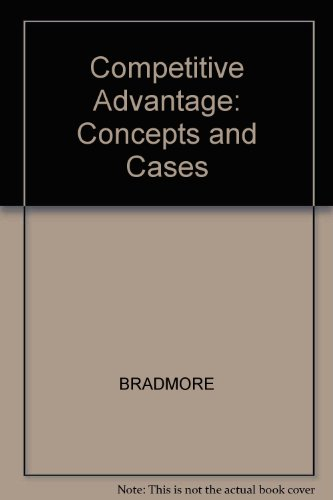Competitive Advantage: Concepts and Cases: BRADMORE