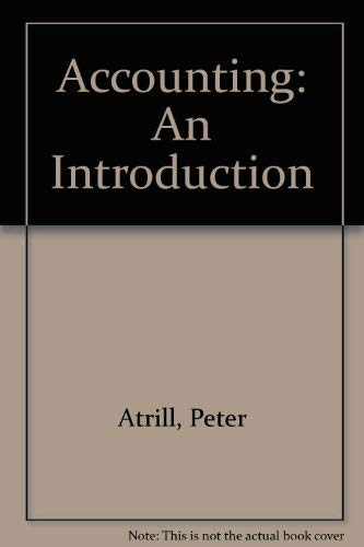 9780724803279: Accounting: An Introduction