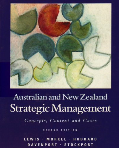 9780724811311: Australian and New Zealand Strategic Management: Concepts, Context and Cases