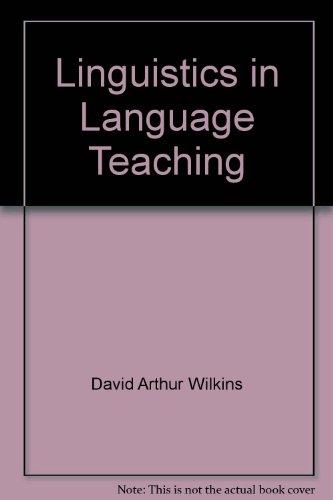 9780726720079: Linguistics in Language Teaching