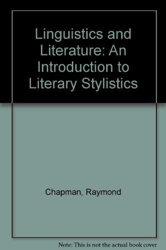 9780726720109: Linguistics and Literature: An Introduction to Literary Stylistics