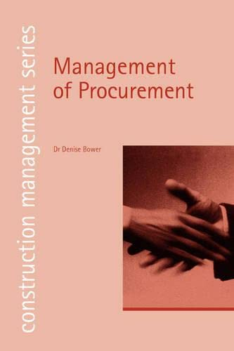 9780727732217: Management of Procurement (construction management series) (student paperbacks)