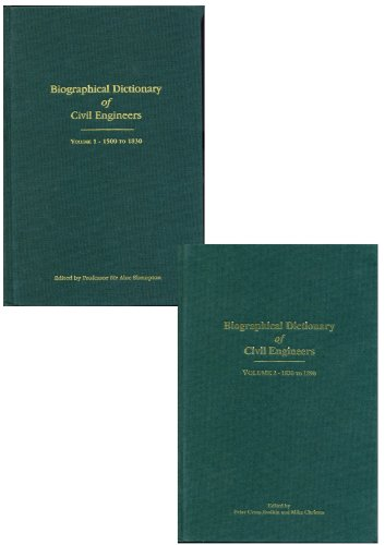 9780727735546: 1;2: Biographical Dictionary of Civil Engineers: 2 Volume set