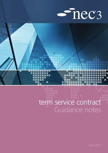 9780727759214: NEC3 Term Service Contract Guidance Notes