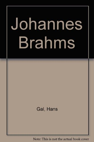 9780727800787: Johannes Brahms: His Work and Personality