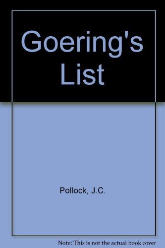 9780727845931: Goering's List