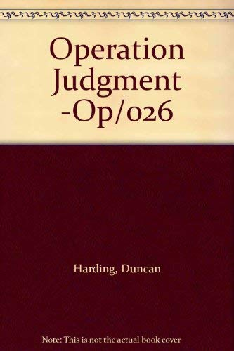 9780727846921: Operation Judgment -Op/026