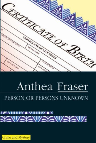 9780727862051: Person or Persons Unknown (A Rona Parish Mystery)