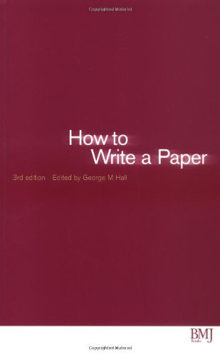9780727917287: How to Write a Paper (HOW - How To)