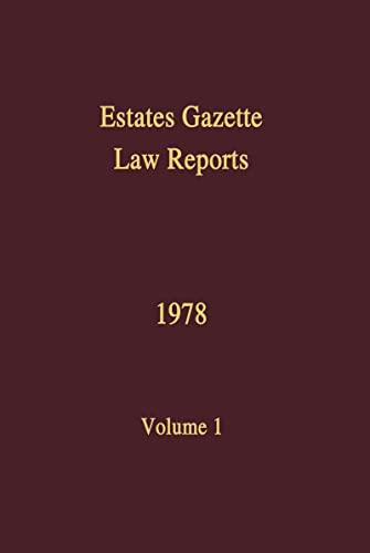 9780728202252: EGLR 1978 (Estates Gazette Law Reports) (Volume 1)