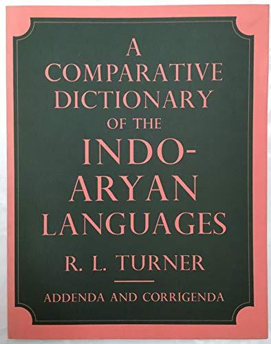 9780728601178: A Comparative Dictionary of the Indo-Aryan Languages IV: Volume 4: Addenda and Corrigenda