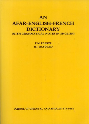 9780728601246: An Afar-English-French Dictionary: With Grammatical Notes in English