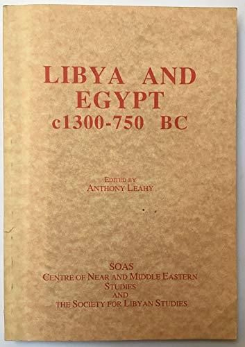 9780728601741: Libya and Egypt: C1300-750 BC