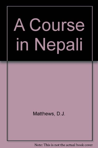 9780728601901: A Course in Nepali