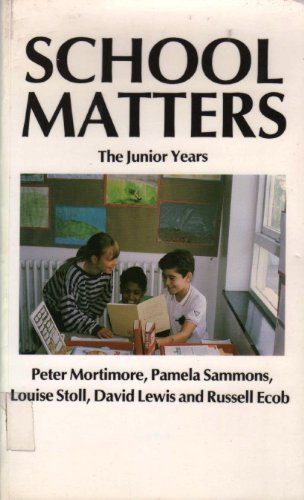 9780729101943: School Matters: The Junior Years