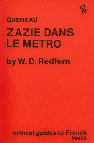 9780729300865: Queneau: Zazie dans le metro (Critical Guides to French Texts)