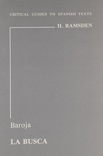 9780729301275: Baroja: La busca (Critical Guides to Spanish Texts)