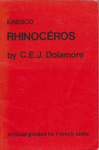 9780729301848: Ionesco: Rhinoceros (Critical Guides to French Texts)