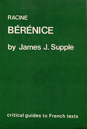 9780729302302: Racine: Berenice (Critical Guides to French Texts)